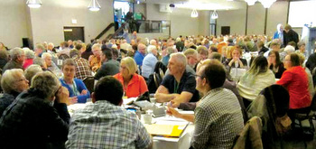 More than 400 people gathered Oct. 13-15 at the Radisson Hotel in Winnipeg, Man., to contemplate the future structure of Mennonite Church Canada. — Mennonite Church Canada