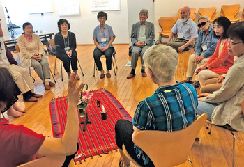 At the annual Peace Missions Center seminar in Sapporo, Japan, participants discuss Mennonite World Conference's Shared Convictions. — Atsuhiro Katano/MWC