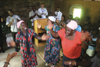 Women worship at a Kenyan Mennonite congregation the day after Mennonite World Conference's Renewal 2027 meetings in April. — @realfoto_Kenya