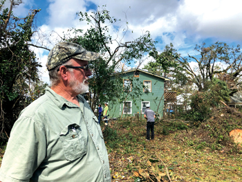 Dwight Cloud, who has served as a volunteer twice for Mennonite Disaster Service, is now on the receiving end after Hurricane Michael hit Marianna, Fla. — Mennonite Disaster Service