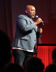Glen Guyton sings at the beginning of his presentation during closing worship July 6 at the Mennonite Church USA convention in Kansas City, Mo. — Vada Snider/MWR
