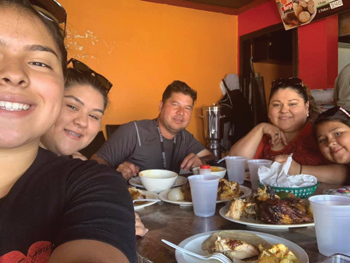 Max and Gloria Villatoro enjoy a meal together with their daughters in mid-August, shortly after they were reunited in Mexico. — Villatoro family