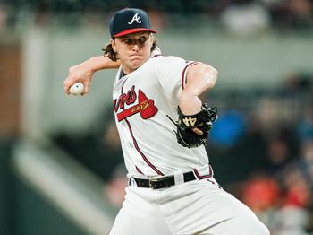 Jacob Webb pitches for the Atlanta Braves May 29 against the Washington Nationals. — Kevin D. Liles/Atlanta Braves