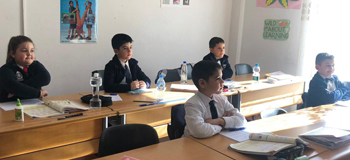Lezha Academic Center students returned to classes Jan. 6 after Albania was shaken by a 6.4-magnitude earthquake Nov. 26. — Dini Shahini and Bardha Papleka/Lezha Academic Center