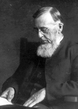 John F. Funk, who founded Herald of Truth, which merged with Gospel Witness to create Gospel Herald. — Mennonite Church USA Archives