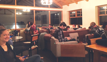 "Goshen College students in Ecuador relax at ""El Refugio."" — Goshen College"