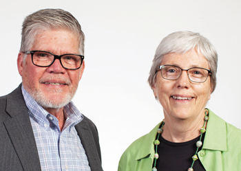 Ann Graber Hershberger, right, will become interim associate executive director of Mennonite Central Committee U.S. on July 1. She and J Ron Byler, left, executive director of MCC U.S., will lead the organization during a time of heightened activity and long-range planning surrounding MCCs centennial. — Brenda Burkholder/MCC