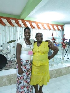 Juana (left) and Yineth at the Regional Women's Convention in December.