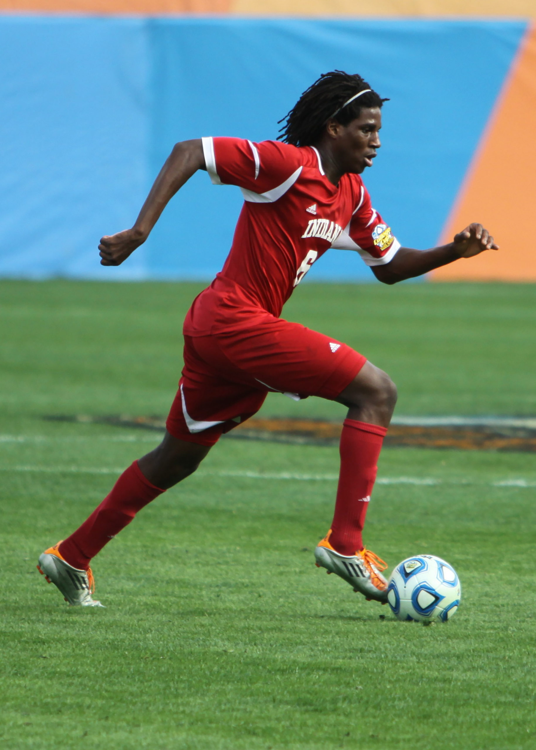 Today he plays forward-midfielder on the Indiana University (in Bloomington) soccer team. During Femi's first year there in 2012-2013, the IU soccer team won the national championship. Femi appeared on the cover of a March Sports Illustrated along with some other athletes.