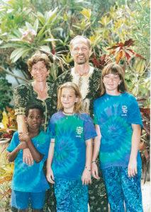 Lynda and Rod Hollinger-Janzen in Benin in 2000 with their children (from left), Femi, Rachel and Mimi. Photo by Wayne Gehman.