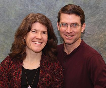 Jennifer and Kent Davis Sensenig, lead pastor at Community Mennonite Church and EMU adjunct professor