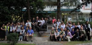Forum for Reconciliation in Northeast Asia participants in front of Chung Chi Divinity School (Photo by Jennifer Deibert)