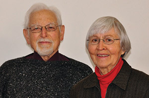 Ray and Wilma Gingerich, retired peace and justice professor and retired hospice nurse